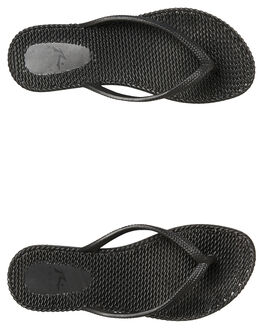 BLACK WOMENS FOOTWEAR RUSTY THONGS - FOL0317BLK