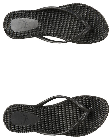BLACK OUTLET WOMENS RUSTY THONGS - FOL0317BLK