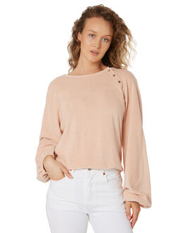 BLUSH WOMENS CLOTHING FEATHER DRUM JUMPERS - FDW44BLUS