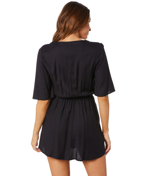 BLACK WOMENS CLOTHING VOLCOM DRESSES - B1332010_BLK