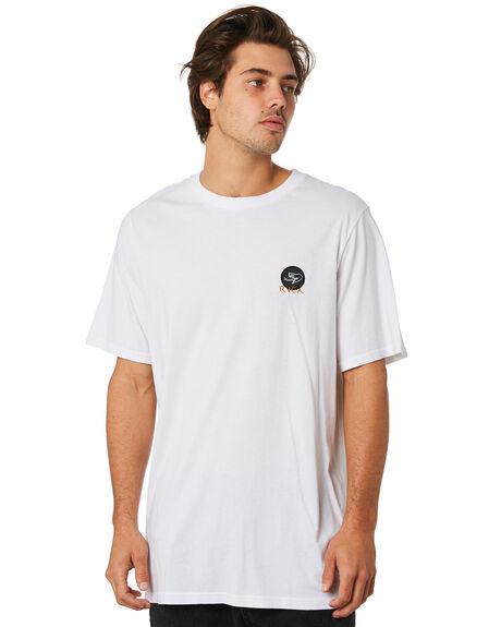 WHITE MENS CLOTHING RVCA TEES - R193057AWHT