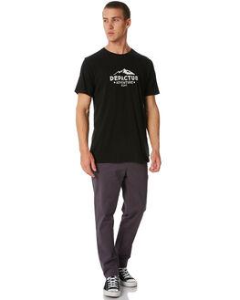 BLACK MENS CLOTHING DEPACTUS TEES - D5184001BLACK