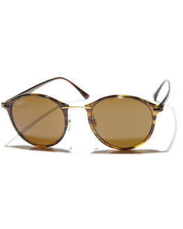 HAVANA BROWN UNISEX ADULTS RAY-BAN SUNGLASSES - 0RB42424971073