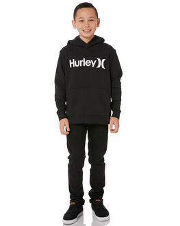BLACK KIDS BOYS HURLEY JUMPERS + JACKETS - AO2210010
