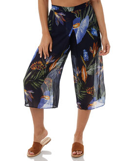 JEWELFLOWER PRINT WOMENS CLOTHING ZULU AND ZEPHYR PANTS - ZZ1957JEWEL