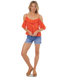 TANGERINE WOMENS CLOTHING RUSTY FASHION TOPS - WSL0541TNG