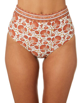 BURNT ORANGE WOMENS SWIMWEAR RIP CURL BIKINI BOTTOMS - GSIFH21257