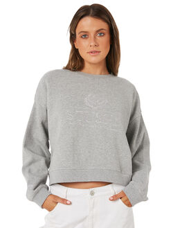 GREYMARLE WOMENS CLOTHING STUSSY JUMPERS - ST181305GREYM