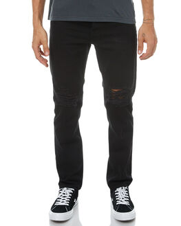 MORBIDS BLACK MENS CLOTHING AFENDS JEANS - 12-02-034MORB