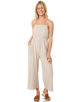 NUDE STRIPE WOMENS CLOTHING MINKPINK PLAYSUITS + OVERALLS - MP1808050NUDE