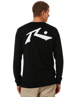BLACK MENS CLOTHING RUSTY TEES - TTM1642BLK