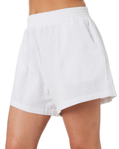 WHITE OUTLET WOMENS STUSSY SHORTS - ST102607WHT