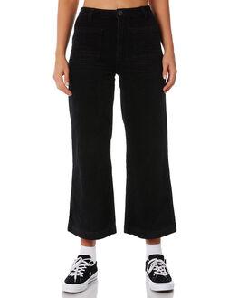 BLACK WOMENS CLOTHING ROLLAS PANTS - 12619100