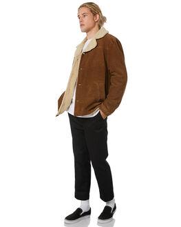 TAN CORD MENS CLOTHING WRANGLER JACKETS - 901562FY4