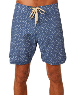 INDIGO FLOWERS MENS CLOTHING MOLLUSK BOARDSHORTS - MS2600INDFL
