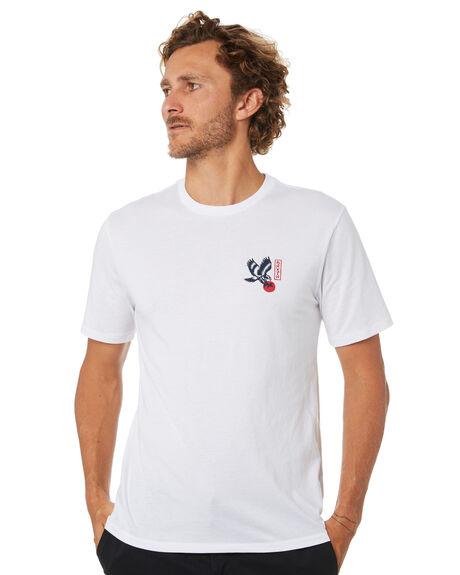 WHITE MENS CLOTHING BRIXTON TEES - 16137WHT