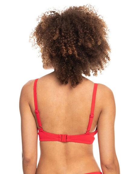 POPPY RED WOMENS SWIMWEAR ROXY BIKINI TOPS - ERJX304449-RNN0