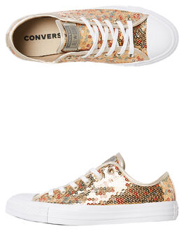 GOLD WHITE WOMENS FOOTWEAR CONVERSE SNEAKERS - 562446CGLD