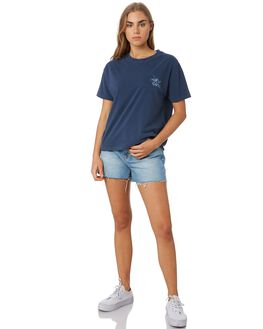 DARK BLUE WOMENS CLOTHING RIP CURL TEES - GTEIJ93155