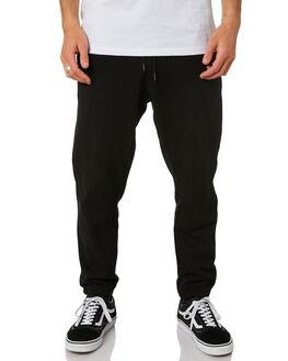 BLACK MENS CLOTHING HUFFER PANTS - MPA02S8001BLK