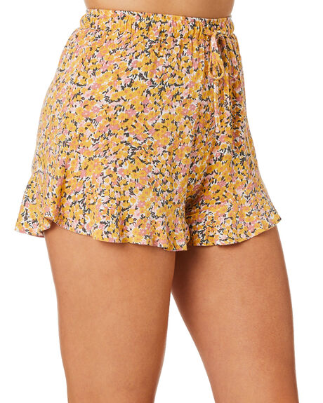 BLOOM FLORAL WOMENS CLOTHING THE HIDDEN WAY SHORTS - H8221232BFLR
