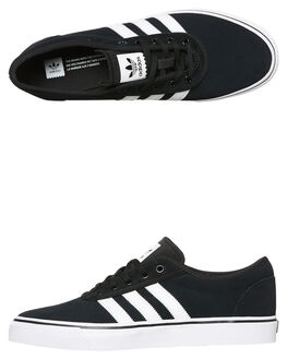 BLACK WHITE MENS FOOTWEAR ADIDAS SKATE SHOES - SSBY4028BLKM