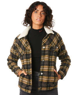 PLAID WOMENS CLOTHING RVCA JACKETS - R293438PLA