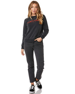 ACID BLACK WOMENS CLOTHING SANTA CRUZ JUMPERS - SC-WFB9872ABLK