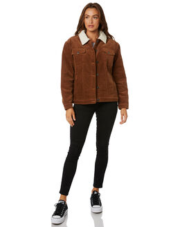 TORTOISE SHELL WOMENS CLOTHING RUSTY JACKETS - JKL0370TOR