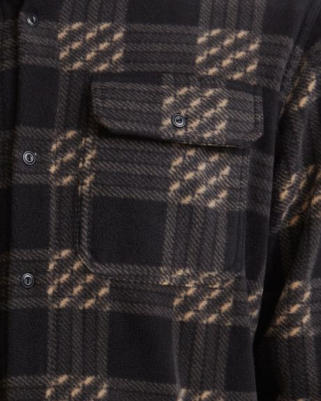 WINTER DAYS BLACK MENS CLOTHING QUIKSILVER SHIRTS - UQYWT03041-KVJ0