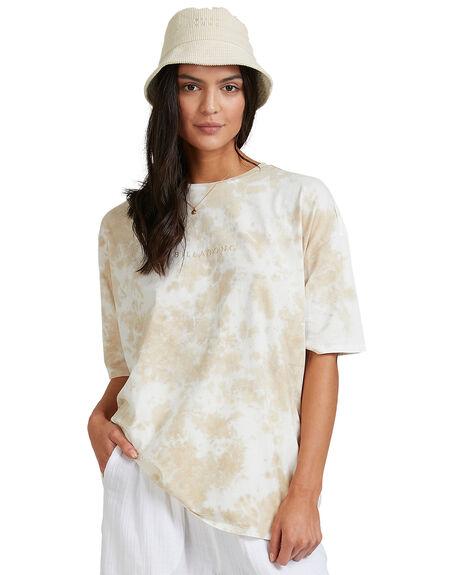 KHAKI WOMENS CLOTHING BILLABONG TEES - BB-6504039-KHA