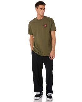 MILITARY GREEN MENS CLOTHING SPITFIRE TEES - 51010293VMILGR