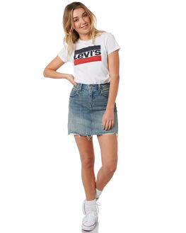 WHITE WOMENS CLOTHING LEVI'S TEES - 17369-0297WHT
