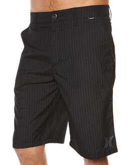 BLACK MENS CLOTHING HURLEY SHORTS - AMWSRVBLK