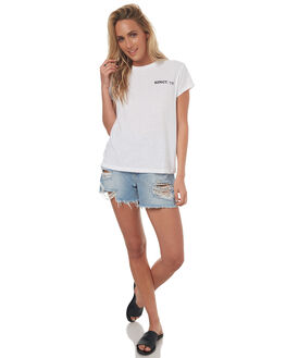 WHITE WOMENS CLOTHING BILLABONG TEES - 6572019WHT
