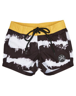 BLACK KIDS TODDLER BOYS ALPHABET SOUP BOARDSHORTS - AS-KBC7125BLK