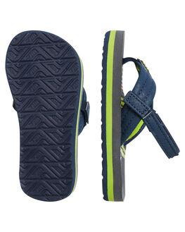 STRIPE GREEN KIDS BOYS REEF FOOTWEAR - 2345SRG