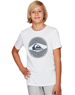 WHITE KIDS BOYS QUIKSILVER TOPS - EQBZT03924-WBB0