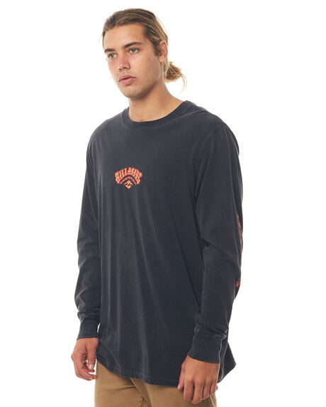 BLACK MENS CLOTHING BILLABONG TEES - 9586173BLK