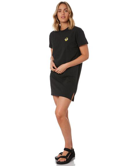 GRAPHITE BLACK WOMENS CLOTHING RUSTY DRESSES - DRL1057GBLK