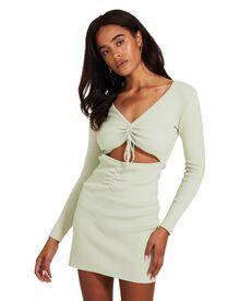 Don't Ask Amanda Julia Rouched Mini Dress - Green | SurfStitch