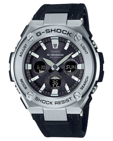 STAINLESS BLACK MENS ACCESSORIES G SHOCK WATCHES - GSTS330C-1ASBLK