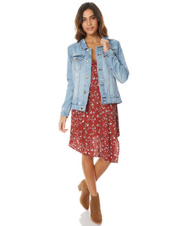 RECKLESS BLUE WOMENS CLOTHING THRILLS JACKETS - WTDP-205ZERBLU1