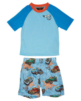 LIGHT BLUE KIDS TODDLER BOYS VOLCOM SOCKS + UNDERWEAR - Y23418S1LBL