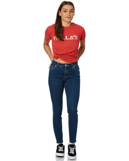 SUNSHINE BLUE WOMENS CLOTHING ROLLAS JEANS - 12588824