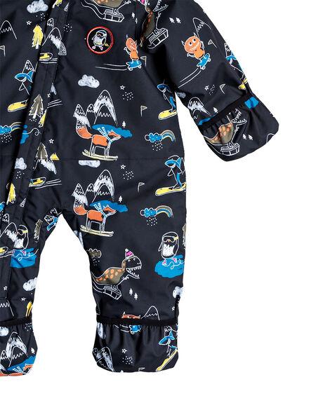 BLACK SNOW PARTY KIDS BABY QUIKSILVER CLOTHING - EQITS03005-KVM6