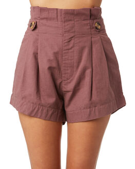 DUSTY PINK WOMENS CLOTHING ELWOOD SHORTS - W93604ANQ