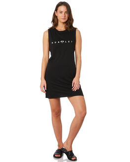 BLACK WOMENS CLOTHING HURLEY DRESSES - CK0690-010