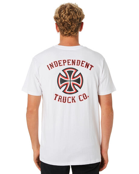WHITE MENS CLOTHING INDEPENDENT TEES - IN-MTD9320WHT