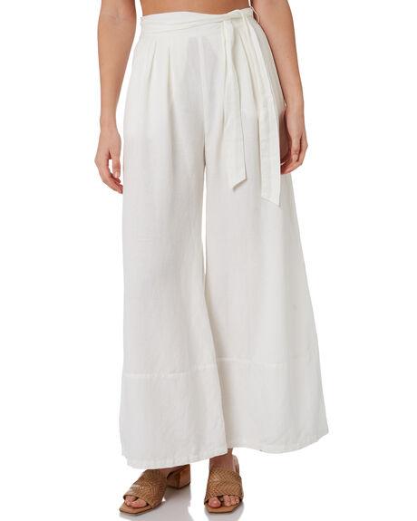 WHITE WOMENS CLOTHING TIGERLILY PANTS - T305386WHT